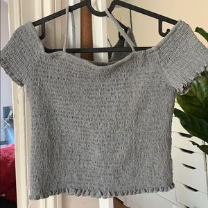 NWOT cropped cut shoulder tank top